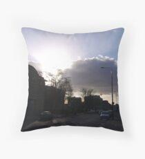 Evening traffic Throw Pillow