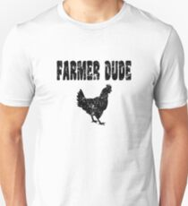 Chicken Farmer Dude T Shirt Unisex T-Shirt