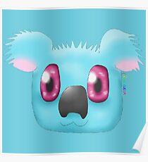 Light Blue Koala Poster