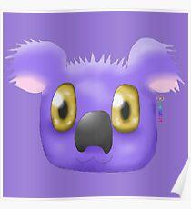 Violet Koala Poster