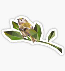 Cute Geometric Goldcrest  Sticker