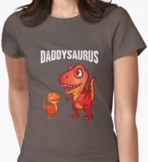 Daddysaurus Pun Funny Fathers Day Gift Womens Fitted T-Shirt