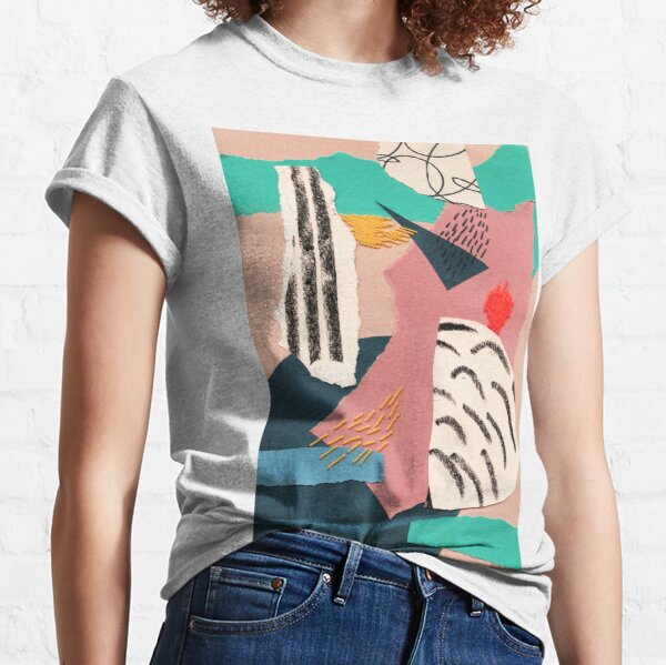 abstract collage with embroidery Classic T-Shirt