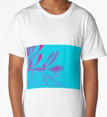 Abstract Pink Flower Long T-Shirt