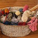 1255 Grandmas Knitting Basket by DavidsArt