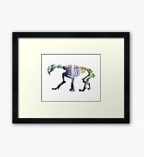 Smilodon Skeleton Framed Print