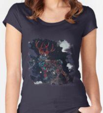 Celestial Deer Women's Fitted Scoop T-Shirt