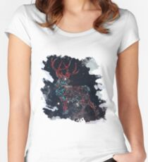 Celestial Deer Women's Fitted Scoop T-Shirt