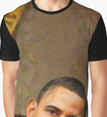 Abstract Portrait of President Barack Obama 11 Graphic T-Shirt