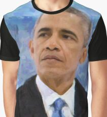Abstract Portrait of President Barack Obama 30x30 10 Graphic T-Shirt