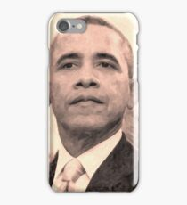 Abstract Portrait of President Barack Obama 30x30 14 iPhone Case/Skin