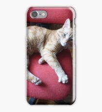 Le réveil du chat roux iPhone Case/Skin