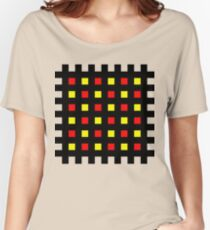 Red Yellow Hatch Women's Relaxed Fit T-Shirt