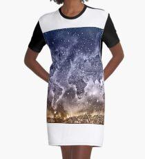 Weltkarte T-Shirt Kleid