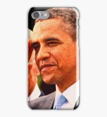Abstract Portrait of President Barack Obama salutes iPhone Case/Skin
