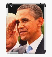 Abstract Portrait of President Barack Obama salutes iPad Case/Skin