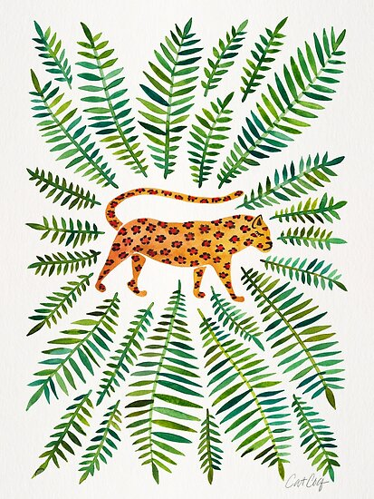 Jaguar – Green Leaves by Cat Coquillette