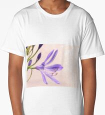 Abstract Purple Flower Long T-Shirt