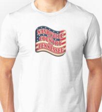 Nashville sound country music tennessee flag shape Unisex T-Shirt