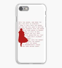 Into The Woods: Little Red Riding Hood  iPhone Case/Skin