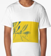Abstract Yellow Flower Long T-Shirt