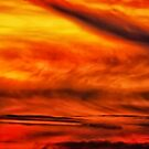Abstract stirred sunset by Owed To Nature