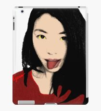 FUNNY GIRL - RED I iPad Case/Skin