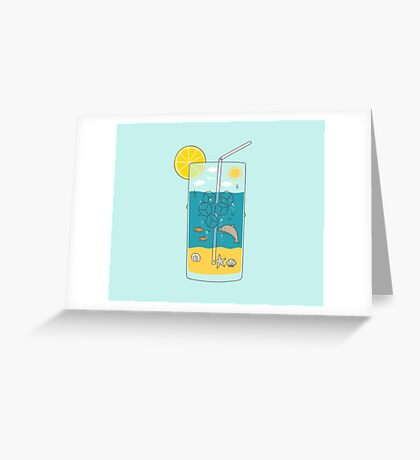 summer drink Greeting Card