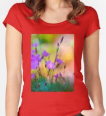 Lounging with th Dianthus Women's Fitted Scoop T-Shirt