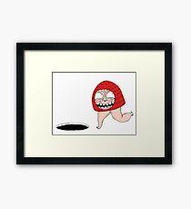 Mushroom booby Trap Framed Print