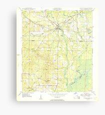 USGS TOPO Map Florida FL Ponce De Leon 348162 1950 24000 Canvas Print