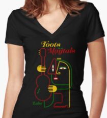 Toots And The Maytals Leba Women's Fitted V-Neck T-Shirt