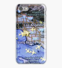 Los Angeles on the radar map iPhone Case/Skin