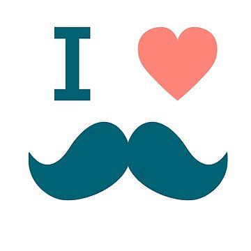 You Love Mustache Shirt?  I Love Mustache Shirt by shirtpossum