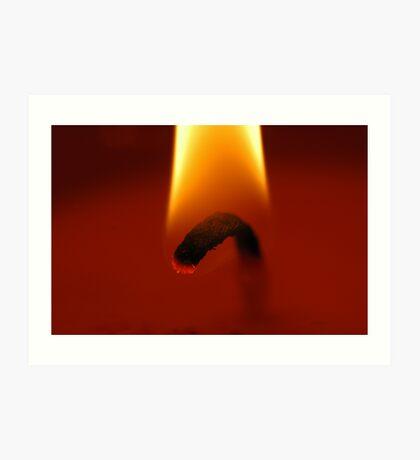 candle flame Art Print