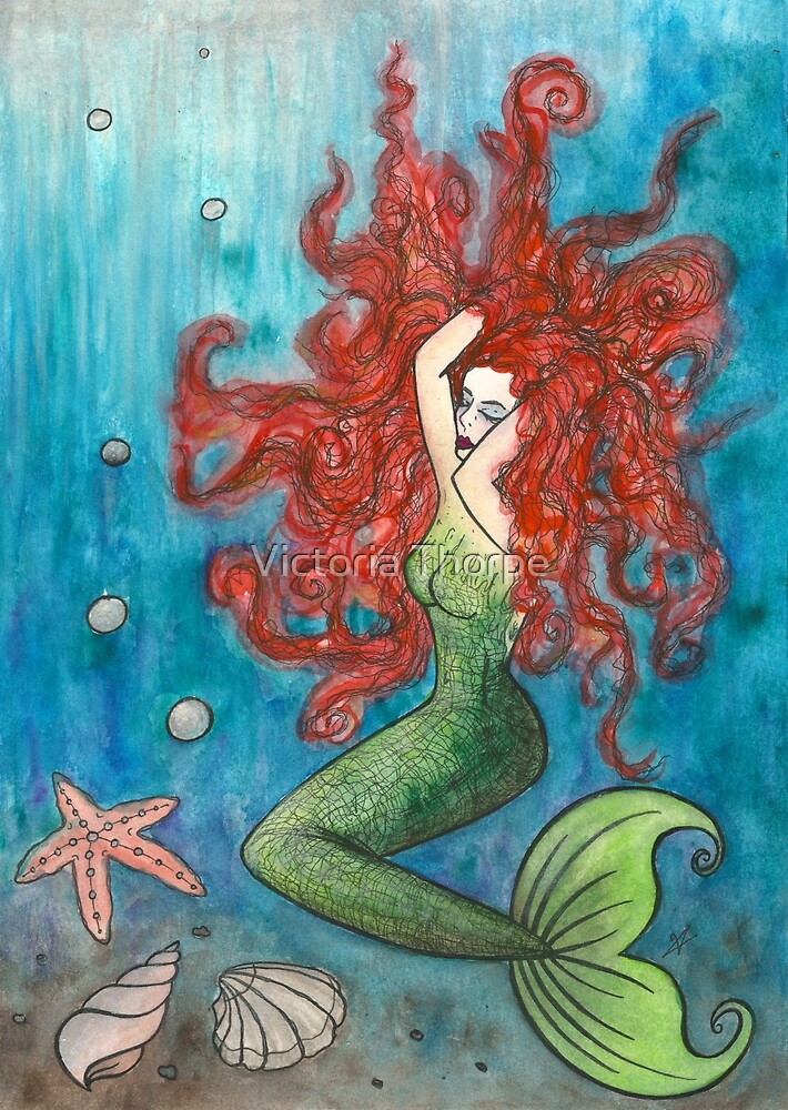 Red Head Mermaid by Victoria Thorpe