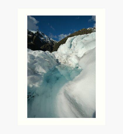 glacier walk Art Print