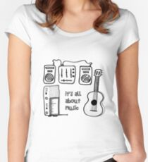 All about music Women's Fitted Scoop T-Shirt