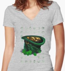 In The End Of The Rainbow Women's Fitted V-Neck T-Shirt