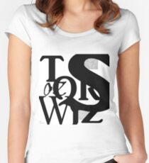 Typography Women's Fitted Scoop T-Shirt