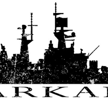 USS Arkansas CGN-41 distressed graphic by jdmosher