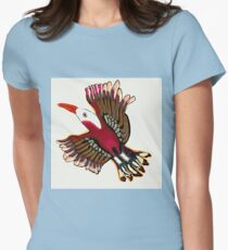 Exotic Bird In Flight Womens Fitted T-Shirt