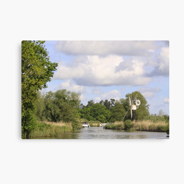 The Windmill At How Hill. Canvas Print