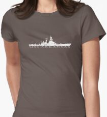 USS Arkansas graphic tee Womens Fitted T-Shirt
