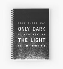 LIGHT vs DARK (redesign) Spiral Notebook