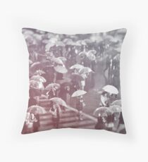 Rainy day in Shibuya Throw Pillow