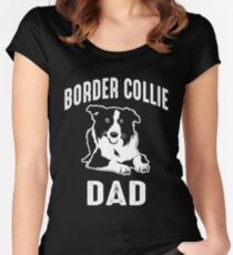 Border Collie Dad Shirt Women's Fitted Scoop T-Shirt
