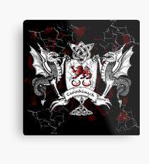 Clan Crest Dragons Metal Print