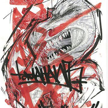 Tomahawk signature six chicken T-Rex by JosieBaldwin