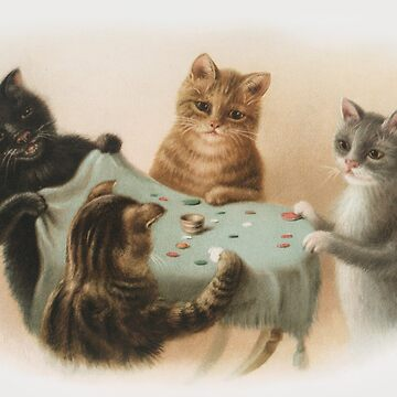 Cats Playing Tiddlywinks by ColorCats